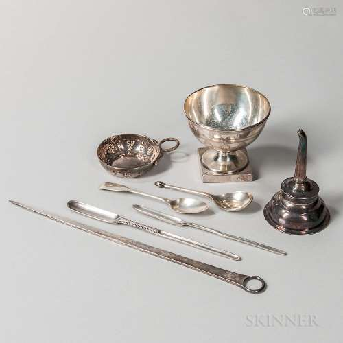 Group of George III Sterling Silver Tableware