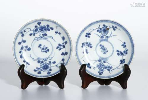 Pair B/W Dishes,Ca Mau Shipwreck c.1725, Sotheby's