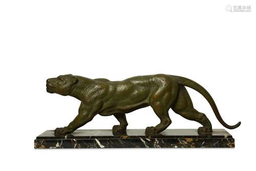 D.H. CHIPARUS, A PATINATED SPELTER MODEL OF A STALKING PANTHER.
