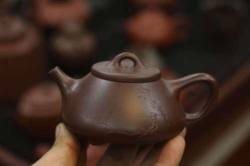 紫泥 石瓢壶