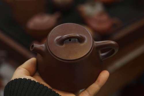 紫泥 础石壶