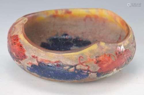 bowl, Daum Nancy, around 1904, thick-walled multilayer