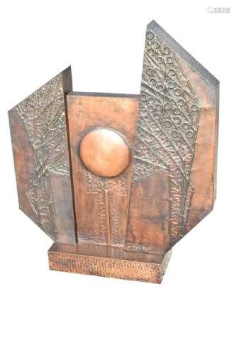 LASZLO BUDAY (HUNGRY, 1924-2017) COPPER SCULPTURE