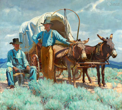 The Taos Twins 45 x 50in Ernest Martin Hennings(1886-1956)