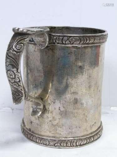 Philadelphia Estate Early American Coin Silver Can Mug