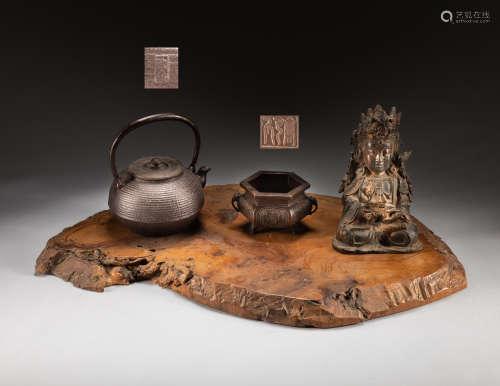 Set Of Chinese/Japanese Antique Buddha