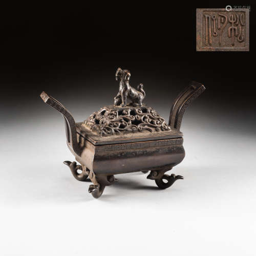 18th Antique Bronze Incense Burner
