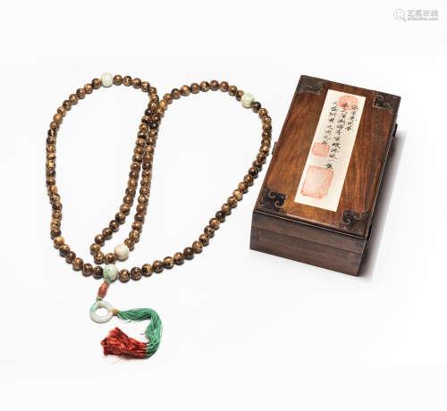 19-20th Antique Amber Prayer Beads