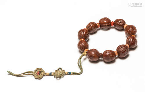 19th Antique Nuts Prayer Beads