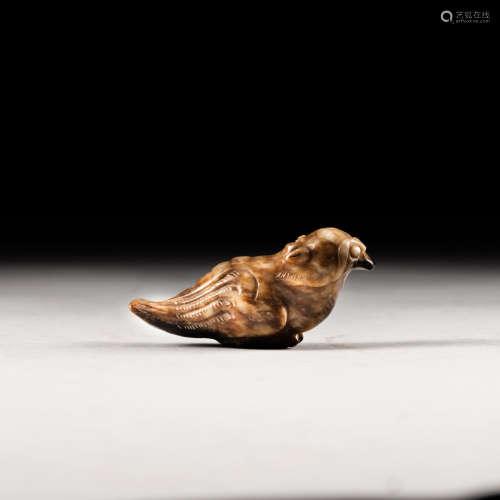 Antique Burnt Jade Bird
