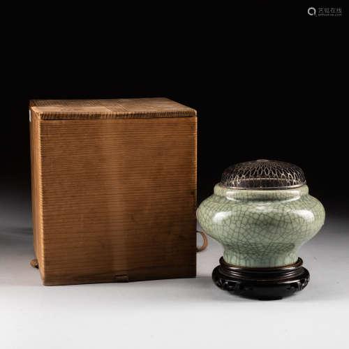 Ming Style Antique Celadon Glazed Incense Burner