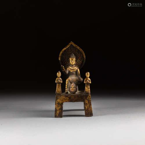 Tang Dynasty Antique Gilt Bronze Buddha
