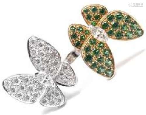 Van Cleef & Arpels Two Butterfly 18k Gold Diamond