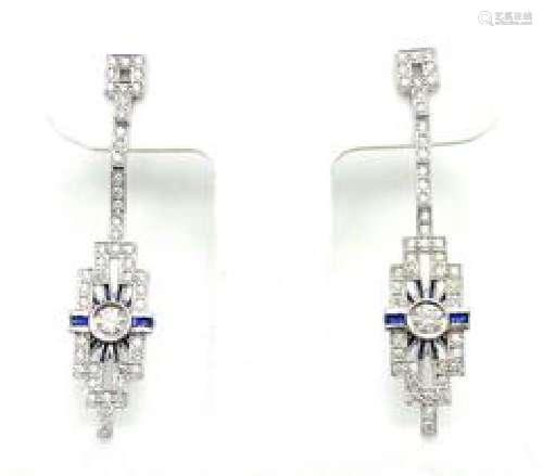 Hearts On Fire Classic 18k White Gold Diamond Sapphire