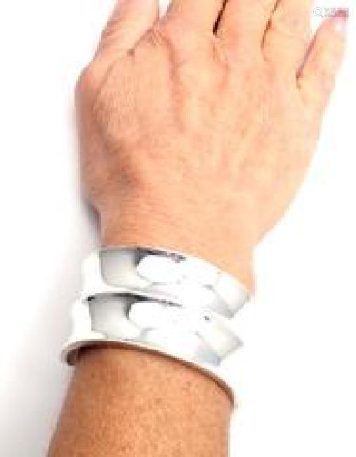 Tiffany & Co Sterling Silver Cuff Bangle Bracelet