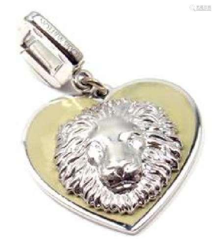 LOUIS VUITTON 18K WHITE GOLD BE WELL LION SAPPHIRE