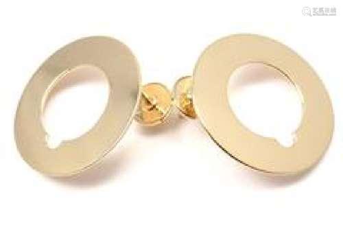 Dinh Van Cible 18k Yellow Gold Earrings