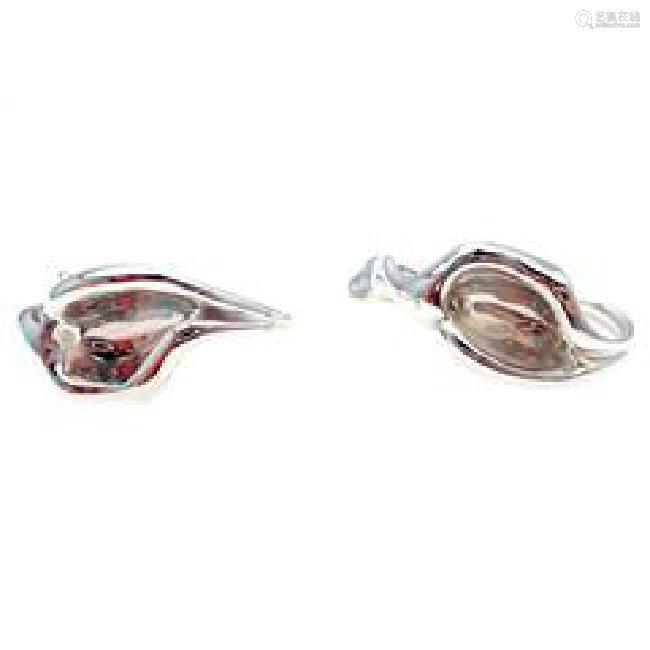 Rare! Tiffany & Co Sterling Silver Elsa Peretti Calla