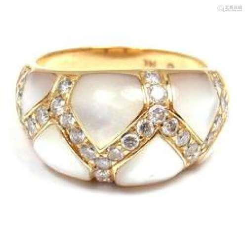 Kabana 14k Yellow Gold Mother of Pearl 0.30ctw Diamond