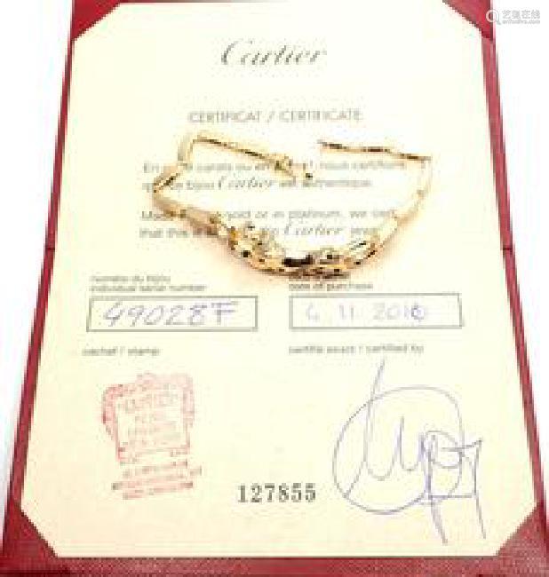 Cartier Panthere 18k Yellow Gold Diamond Onyx Link