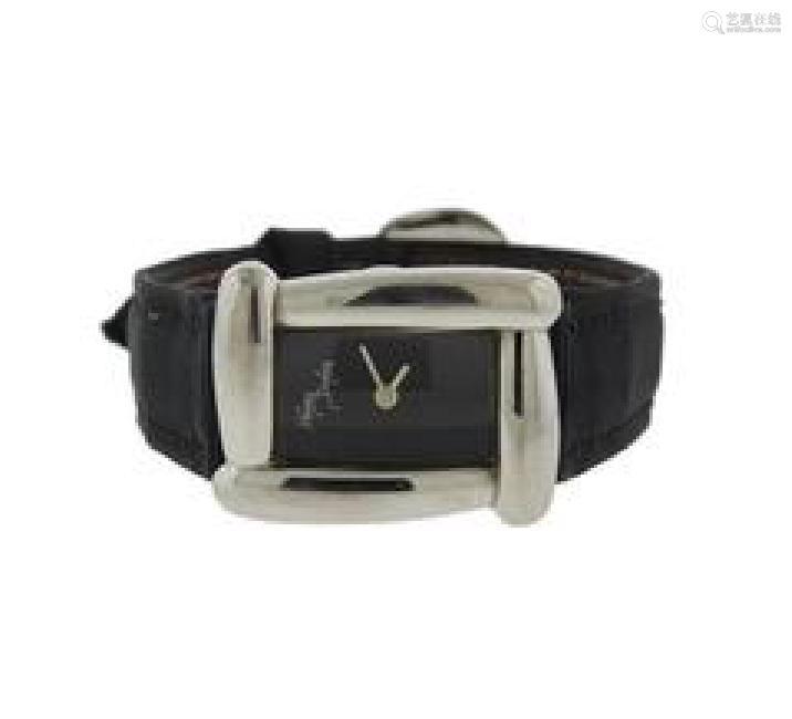 Henry Dunay Stainless Steel Sabi Black Watch