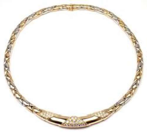 Cartier 18k Yellow And White Gold Diamond Necklace