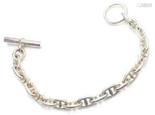 Hermes Sterling Silver Chaine D'Ancre Toggle Bracelet