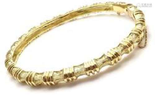 Tiffany & Co 18k Yellow Gold Bamboo Bangle Bracelet