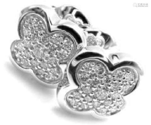 Van Cleef & Arpels Pure Alhambra 18k White Gold Diamond