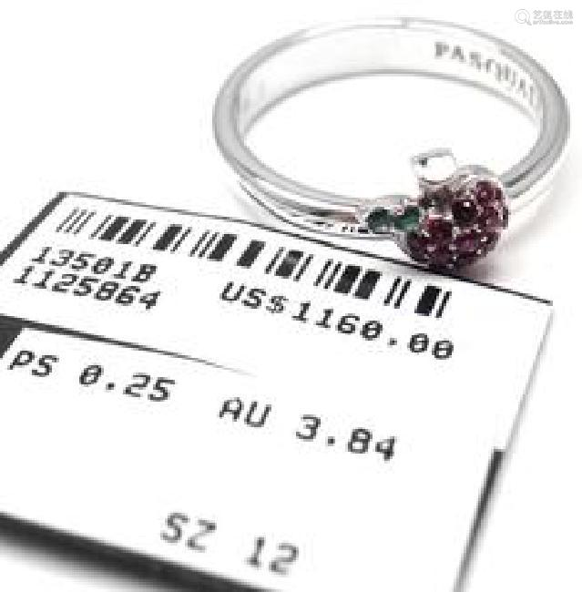 Pasquale Bruni TENTAZIONE 18k White Gold Apple Ruby and
