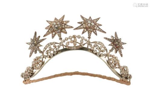 A diamond tiara / necklace, early 20th century