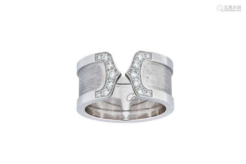 A diamond-set 'Logo' ring, by Cartier