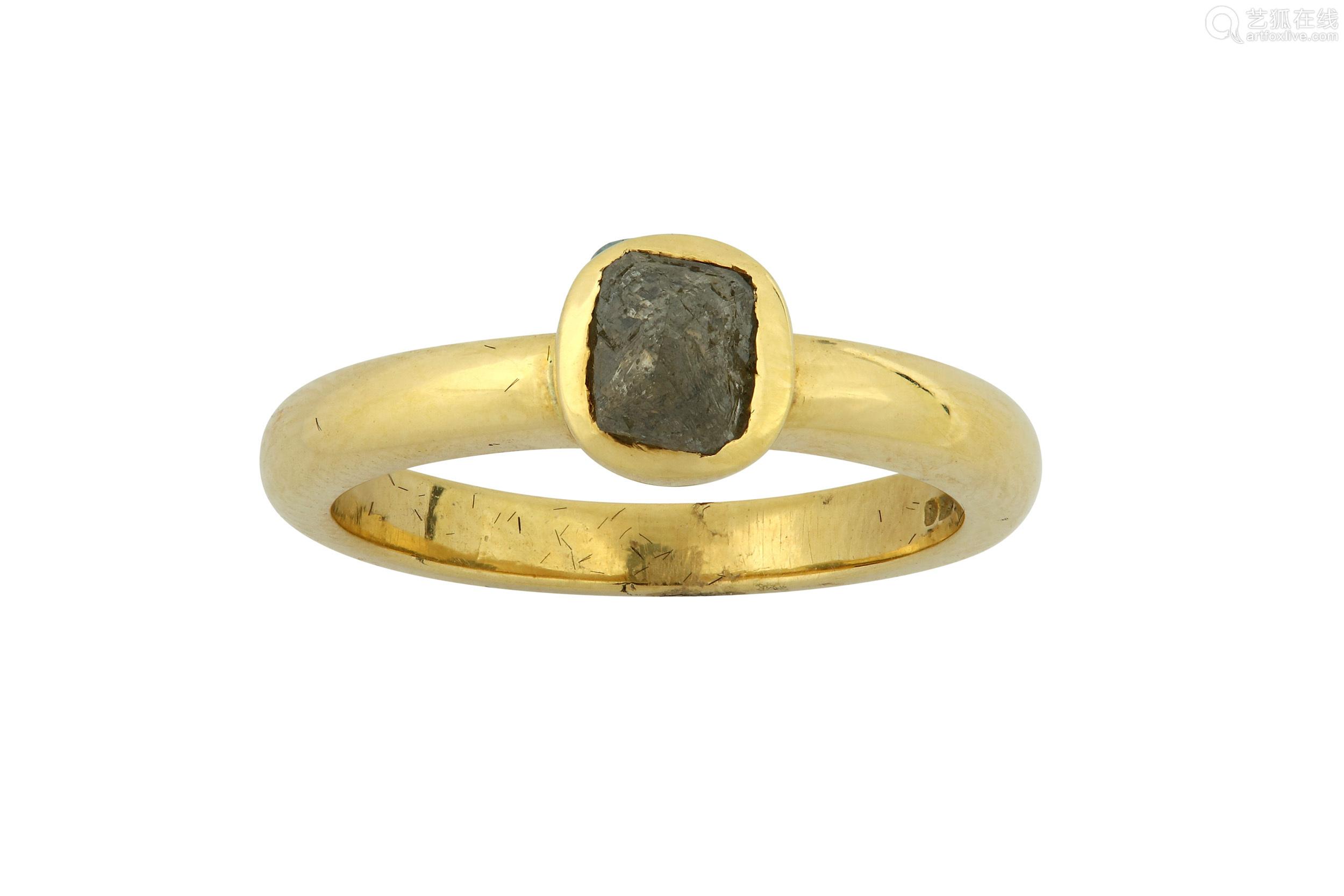 A gold anddiamond single-stone ring