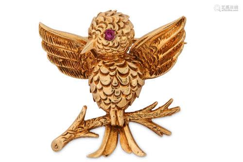 A novelty bird brooch, by Boucheron