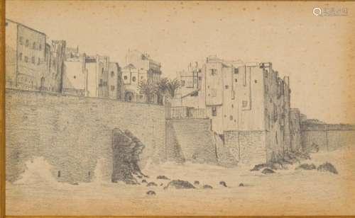 Trois vues d'Alger, 18 janvier 1889 Trois dessins ...;