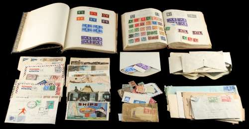 Property of a gentleman - philately - a small stamp collection, worldwide, in two albums & loose,