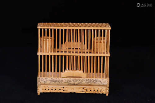 1912-1949, A FLORIAL DESIGN KATYDISDS CAGE, REPUBLIC OF CHINA