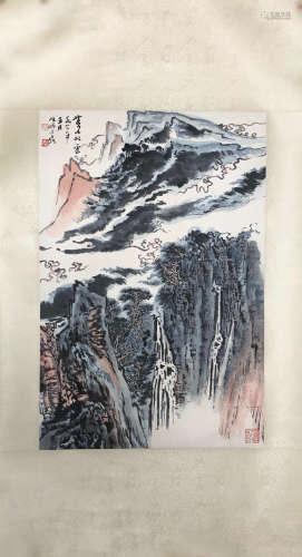 YANSHAO LU, <MOUNTAIN&CLOUD> PAINTING