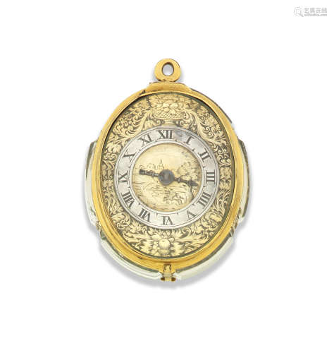 Circa 1600   Probably English. An unsigned early oval foliate watch