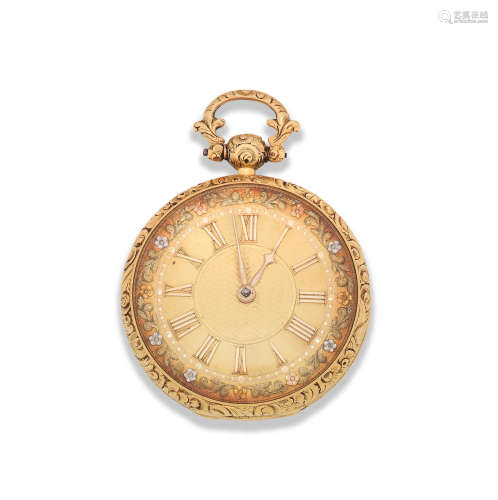 Chester Hallmark for 1827  James Simpson, Lincoln. An 18K gold key wind open face pocket watch