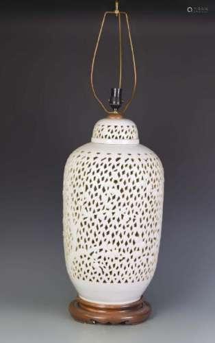 Chinese White glazed Lamp