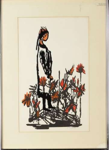 Sirosenblom, Abstract Painting Of Lady And Flowers
