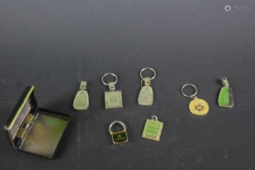 7 Vintage Car key Chains.