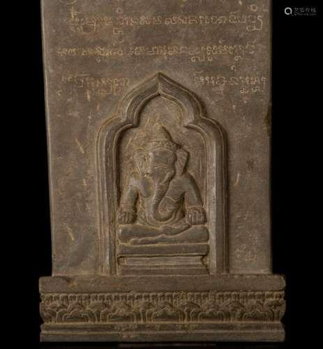 12th-13th Century Angkor Stele Ganesha & Teaching