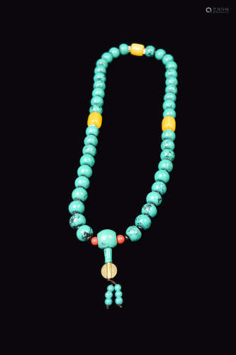 [Chinese] A Turquoise Bead Necklace