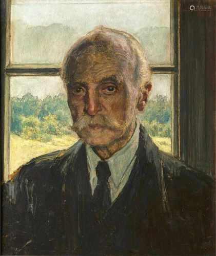 Arthur Illies(Hamburg 1870 - Lüneburg 1952)SelbstportraitÖl/Hartfaser, 60 x 50 cm, r. o. sign. u.