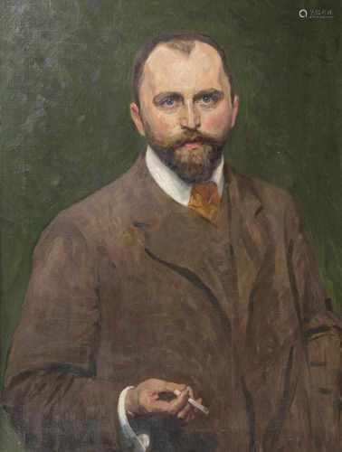 Arthur Siebelist(Loschwitz/Dresden 1870 - Hittfeld/Hamburg 1945)SelbstportraitUm 1900, Öl/Lw., 82