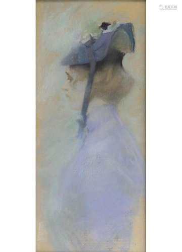 Alfred Mohrbutter(Hamburg 1869 - Berlin 1916)Dame mit HutPastell, 73 x 32,5 cm, r. u. sign. und dat.