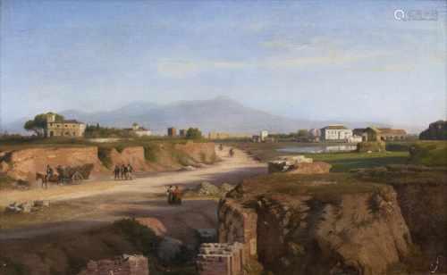 Louis Gurlitt(Altona 1812 - Naundorf 1897)In der römischen CampagnaÖl/Lw., 31 x 49 cm, r. u. sign.