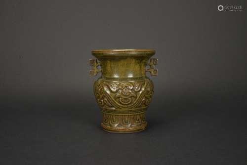 清中期 荞麦釉花瓶